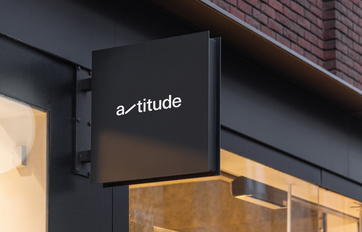 External signage as part of our identity, rename and collateral for structural engineering company, Altitude.