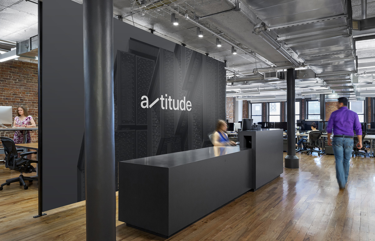 Internal signage as part of our identity, rename and collateral for structural engineering company, Altitude.