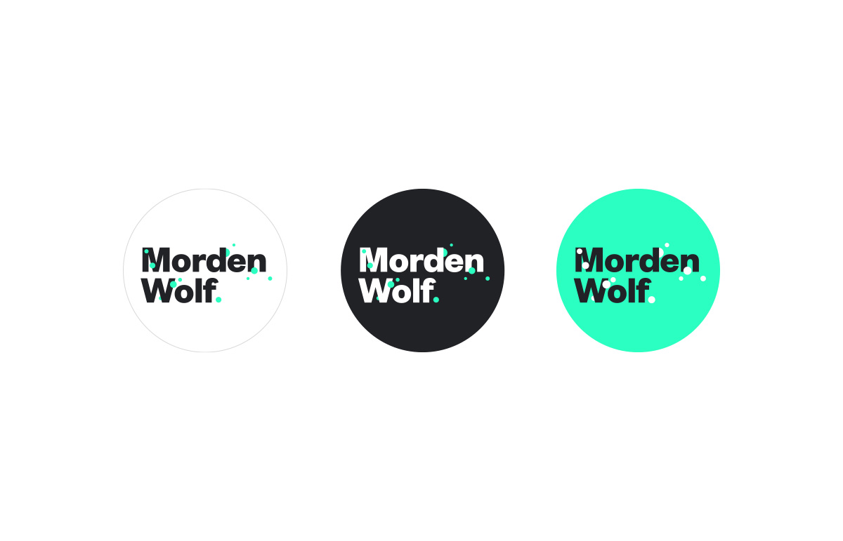 Logotype colourway for virtual broadcasting company, Morden Wolf, based in Greenwich, South East London.