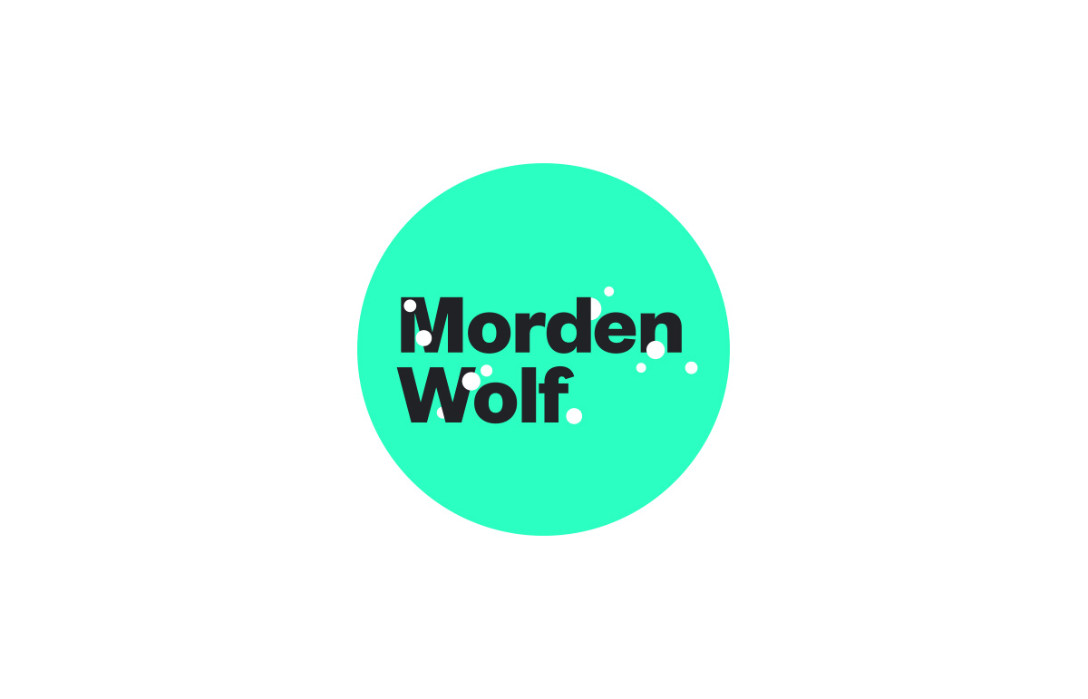 Clean and modern Logotype design for virtual broadcasting company, Morden Wolf, based in Greenwich, South East London.