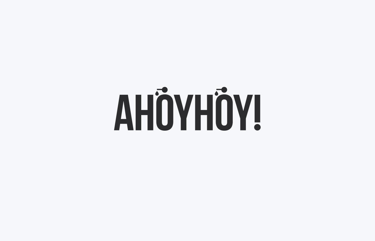 Bold typographic logo design created for South London company, Ahoyhoy!