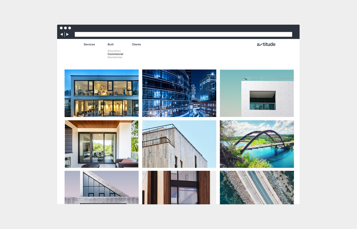 Web page design for structural engineering company in Australia.