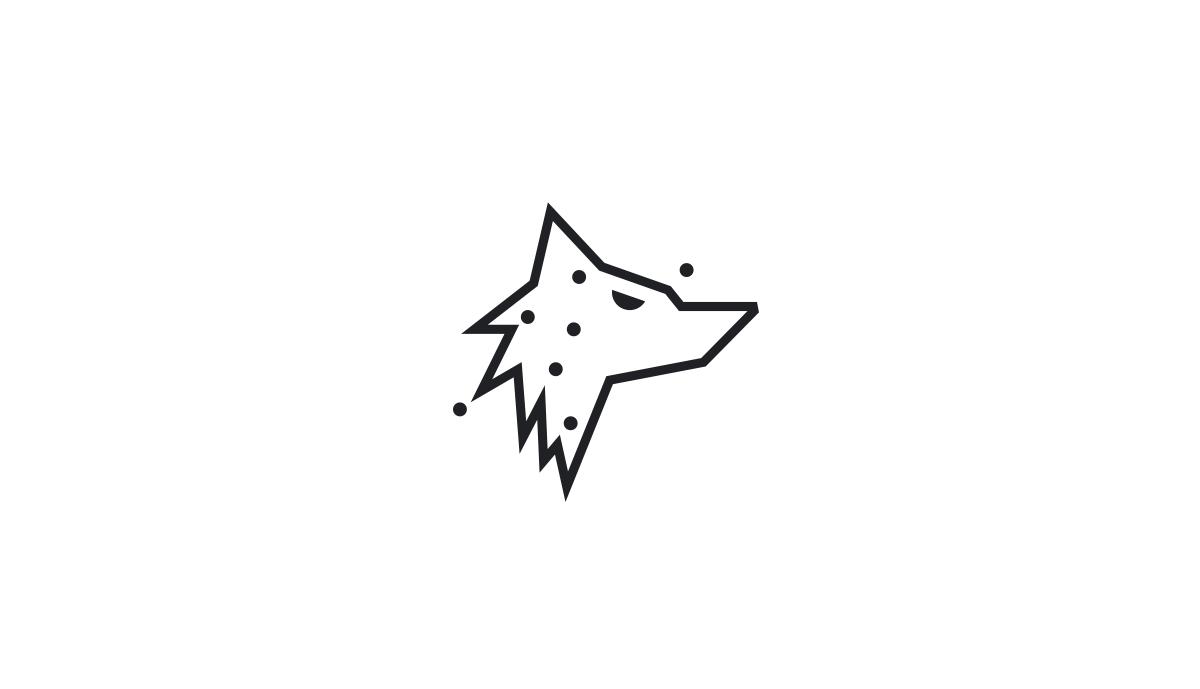 Mark concept design for virtual broadcasting company, Morden Wolf.