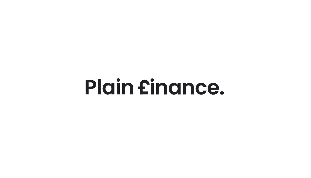 Logotype design for Bromley based funding company, Plain Finance.