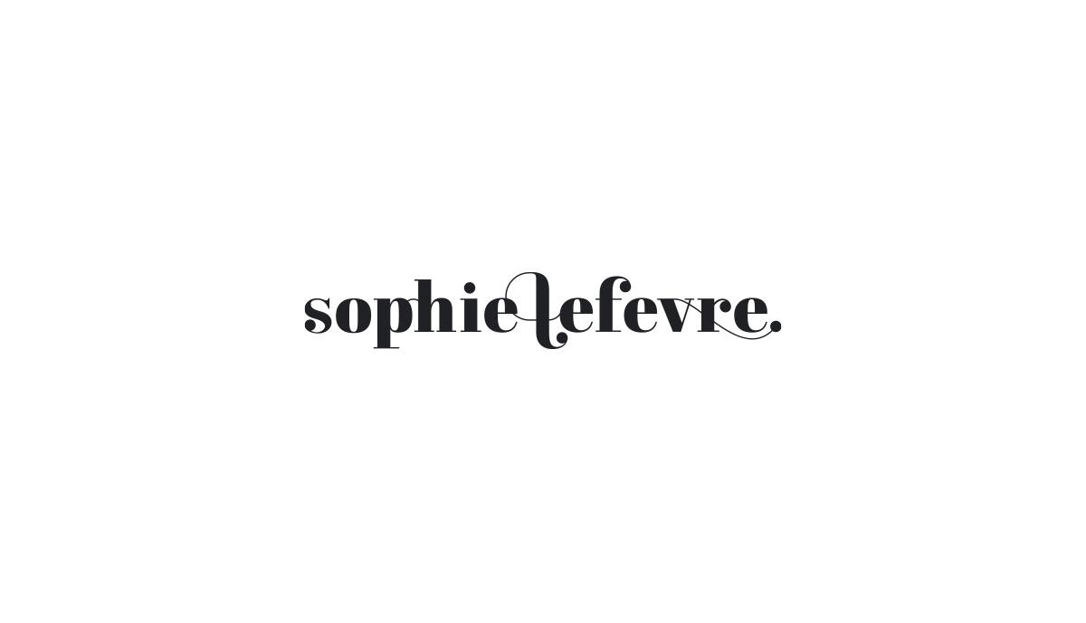Logotype design for Bromley photographer, Sophie Lefevre.