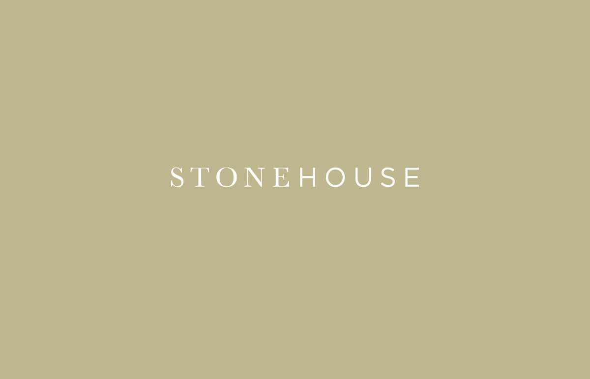 Contemporary logotype design for new building construction company, Stonehouse.